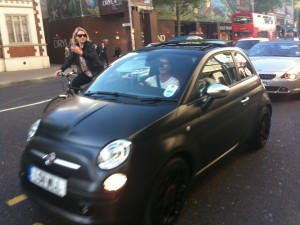 Simon Cowell and his Fiat 500